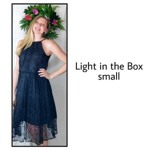 Light in the box Black dress small